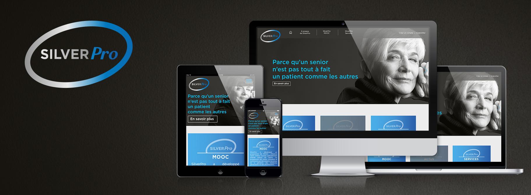 Plateforme web SilverPro pour accompagner les professionnels de santé sur les problématiques liées au patient senior.