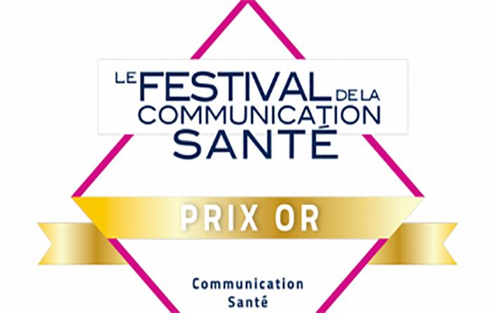 Prix Or au Festival de la communication santé 2018
