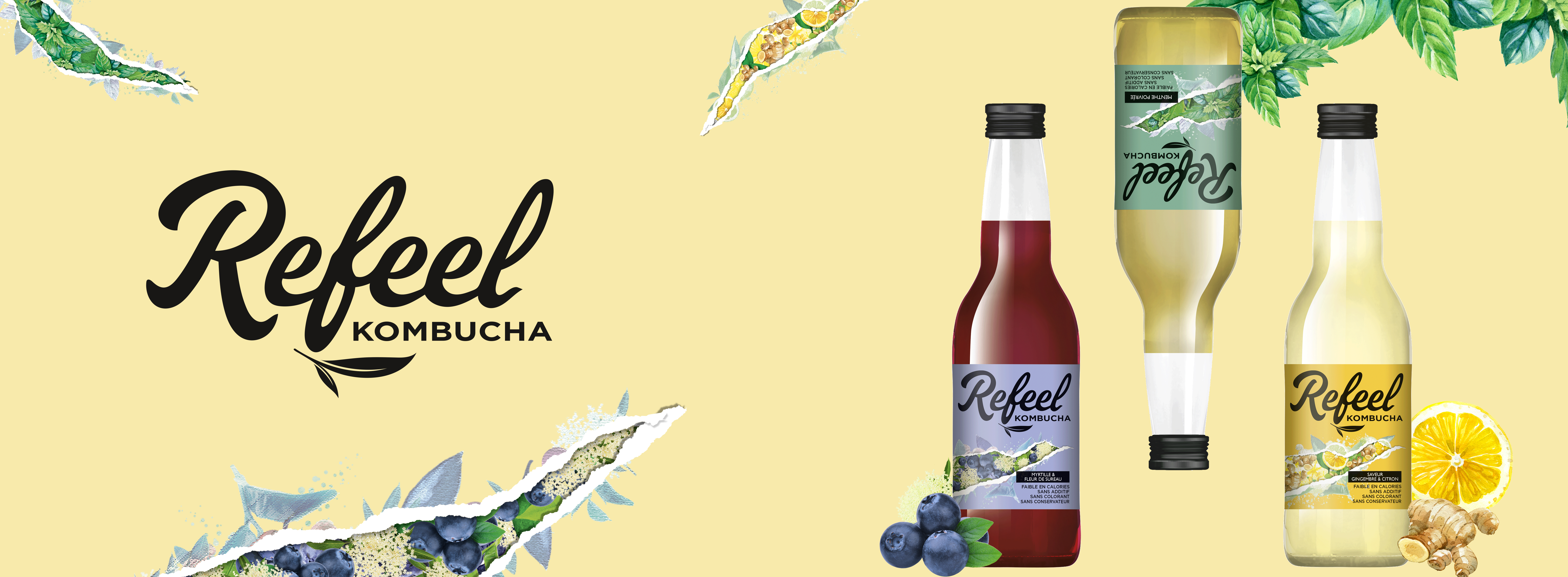 Agence design food Refeel Kombucha